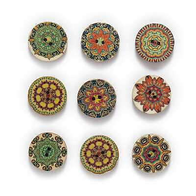 Vintage HandMade Sewing Wooden crafts Buttons Scrapbooking Craft decoration