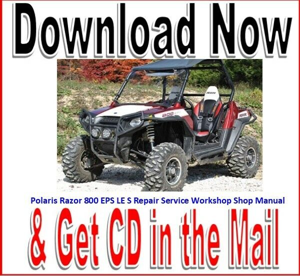 Polaris Rzr 800 Eps Le S Repair Service Workshop Shop