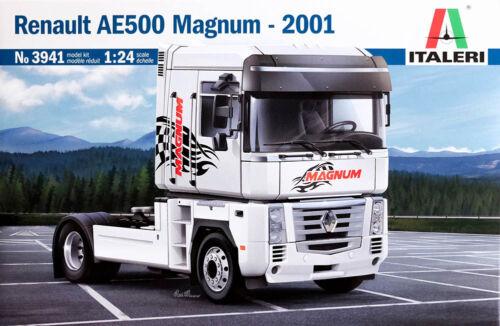 Renault AE500 Magnum 2001 Truck LKW 1:24 Model Kit Bausatz Italeri 3941