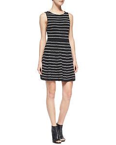 Image Is Loading Alice Olivia Monah Black White Striped Wool Sleeveless