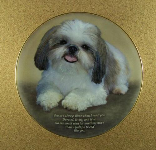Cherished Shih Tzus FAITHFUL FRIENDS Plate Danbury Mint Dog Puppy Charming!