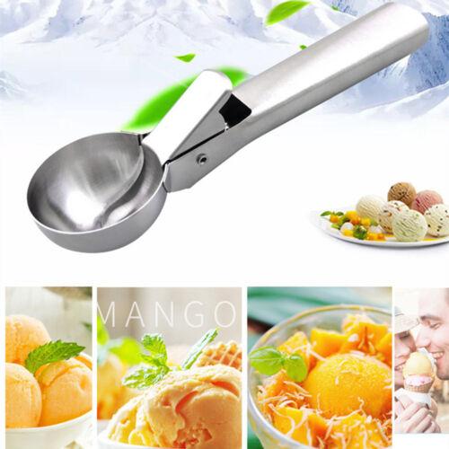Küche Edelstahl Eisportionierer Löffel für Eisbrei Kartoffellöffel W CL