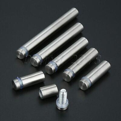 10pc 16mm Steel Advertisement Glass Standoff Pin Fixing Billboard Screw Fastener