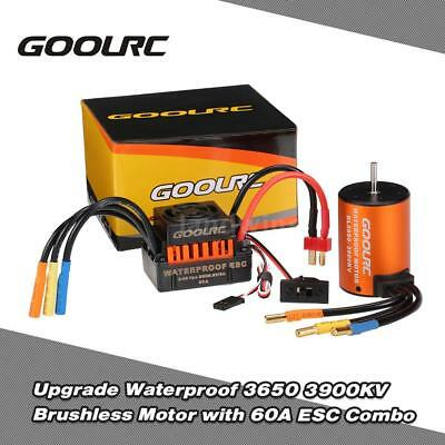 GoolRC Upgrade Waterproof 3650 3900KV Motor with 60A ESC for 1/10 RC Car H4J5