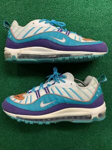 Details about Nike Air Max 98 Charlotte Hornets Sneakers Men's Size 13  Purple 640744 500