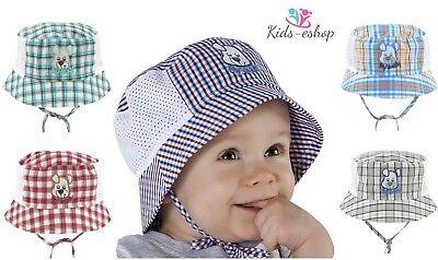 100% Cotone Ricco Cofano Estate Ragazzi Cappello 9-24 Mesi Legare Kids Cap Cappelli Boy-mostra Il Titolo Originale