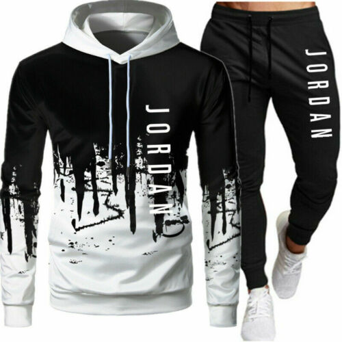 Herren 2Pcs Jogging Sweatshirt Anzug Trainingsanzug Sportanzug Hoodie Hose.Set