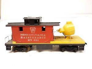 HO-Scale-Model-Railroad-Pennsylvania-Maintenance-Side-Car-Spotlight-MW984-Train