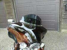 """Harley 8"""" Dark Tint Windshield Touring Electra Street Ultra Bat Wing 14 and up"""