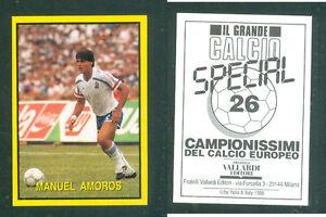 Manuel-AMOROS-Francia-raro-problema-italiano-1988-CALCIO-NUOVO-grande-CALCIO-N-26