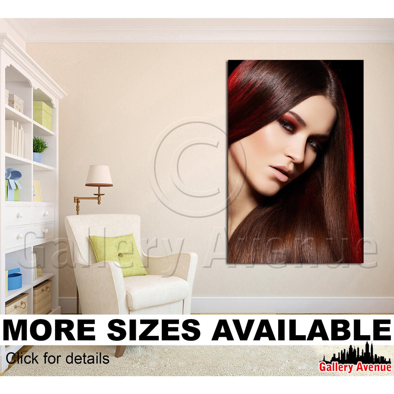 Wall Art Canvas Picture Print - Beauty Make-up Salon Lips 0057 2.3