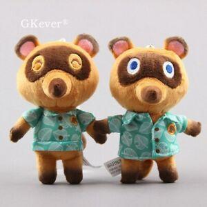 2pcs-Tom-Nook-Animal-Crossing-5-039-039-Plush-Keychain-Toy-Stuffed-Animal-Raccoon-Doll