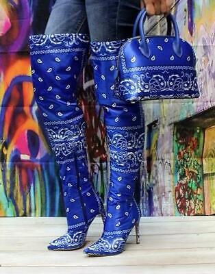 Blue Berry Women Over Knee High Boots
