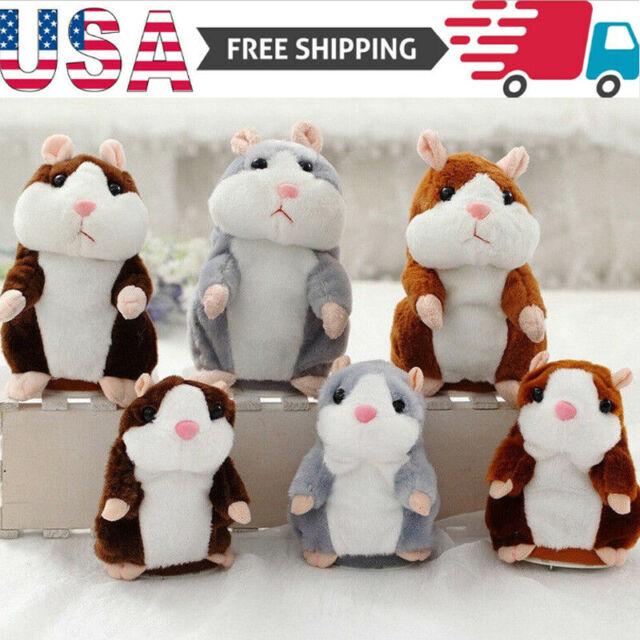 Lovely Talking Hamster Speak Talk Sound Record Repeat Stuffed Plush Animal Kawai