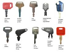 10 Heavy Construction Equipment Ignition Key Set Cat Jd Kobelco Komatsu Case