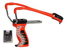 Zwille orange Schleuder Magazin 30 Stahlkugeln Steinschleuder Sportschleuder NEU