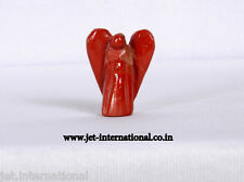 "Red Jasper Angel 1.25"" Crystal Spiritual Psychic Guide Guardian Carving Gem A++"