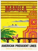 Philippines Art Vintage Travel Poster Print 12x16 Rare Hot Xr304