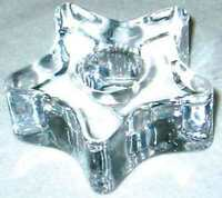 Clear Glass Star Mini Ritual Chime Candle Holder 1/2  Diameter Choose 1 Or 2