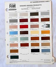1977 LINCOLN  AND FORD THUNDERBIRD R-M COLOR PAINT CHIP CHART ALL MODELS