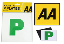 AA Pack Of 2 P Plate New Driver Green Magnetic Pair Just Passed Car Van Driving