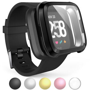 Caseflex-Fitbit-Versa-Screen-Protector-Case-Full-360-Protection-Gel-Bumper-Cover
