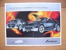 Lorinser Smart Roadster + Roadster Coupe Prospekt / Brochure / Depliant, D