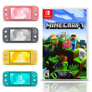 Nintendo Switch Lite 32GB Handheld Video Gaming Console with Minecraft