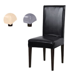 Stretch-PU-Leather-Dining-Room-Seat-Cover-Wedding-Banquet-Chair-Decor-Waterproof