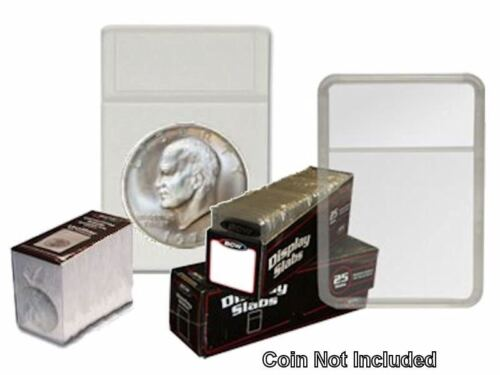 White Display Slab with Foam Inserts-Combo 25 pack Large Dollar BCW