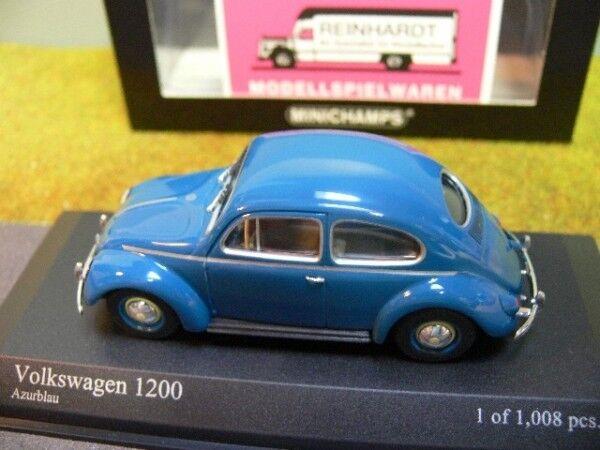 1 43 Minichamps VW Escarabajo 1200 1953 blu 430052107