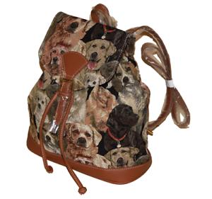 Rucksack-Hunde-Motiv-Labrador-Gobelin-Tasche-Damen-Kinder