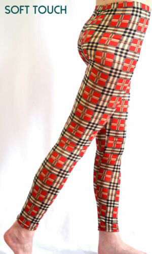 Women/'s Soft Touch Ankle Length Various Print Pattern Legging size 8-14