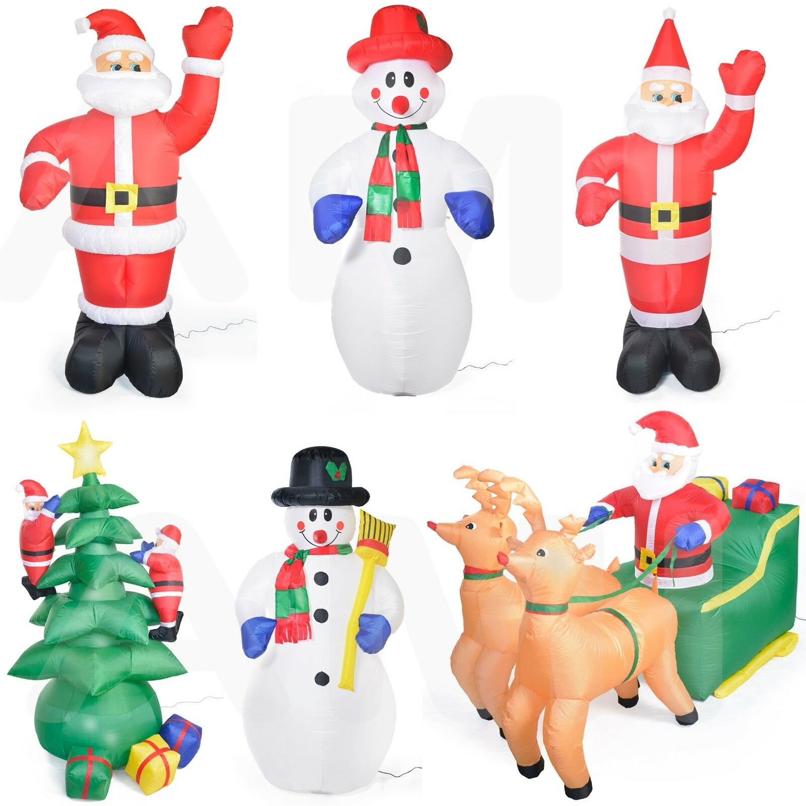 LED Santa Snowman Christmas Inflatables Festive Outdoor Blowup 6ft 7ft 10ft TALL