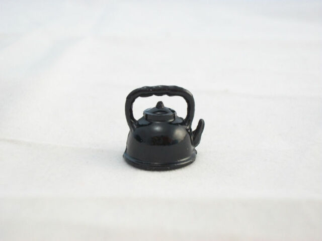 1:12 Scale Artist Handcrafted Dollhouse Miniature Copper POTS W//BLACK STAND