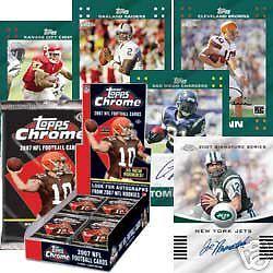 NIP 2007 Topps Chrome NFL Football 1 Pack 4 Cards New