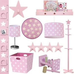 kinder m bel rosa star accessoires kinderzimmer stern baby hochwertig set neu ebay. Black Bedroom Furniture Sets. Home Design Ideas