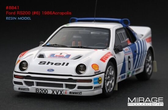 RARE Acropolis Rally HPI  8841 Ford Ford Ford RS200  6 1986  Resin Model Pirelli WRC 2f9281