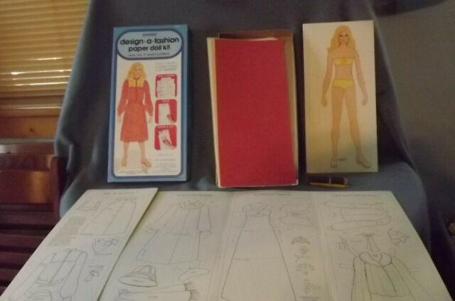 Vintage 1979 Barbie Design A Fashion Paper Doll Kit Whitman 4328 NOS