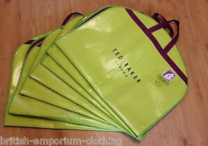 2x TED BAKER Green & Purple Suit Carrier Bag Cover BNWT