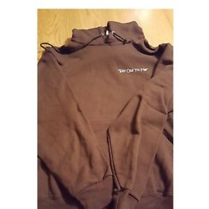 Chicago-French-Bulldog-logo-Jerzee-pullover-NWOT-Brown-or-Black