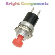 2 x Miniature Momentary Push Button Switch - Red - UK - 1st CLASS POST