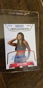 2012-TRISTAR-TNA-IMPACT-REFLEXXIONS-AUTO-SIGNED-CARD-GAIL-KIM-WWE-RED-82-3-25