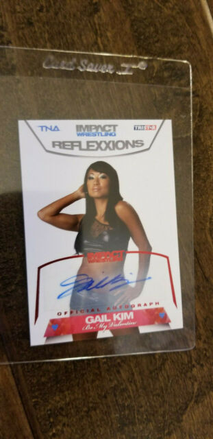 2012 TRISTAR TNA IMPACT REFLEXXIONS AUTO SIGNED CARD GAIL KIM WWE RED# 82 3/25