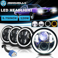 4x 575 5 34 Led Headlights High Low Drl Angel Eyes Projector Lamp For Dodge Fits 1972 Charger