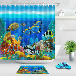 Shower Curtain Multicolor Fish