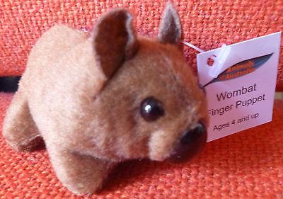 AUSTRALIAN ANIMAL FUNDRAISER GIFT MAGPIE Soft Material FINGER PUPPET