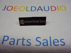 Criterion-50A-Speaker-Logo-1-piece-Tested-Parting-Out-50A-Speakers