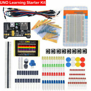 Electronic-Starter-Kit-for-Arduino-Resistor-Buzzer-Breadboard-Dupont-cable-LED