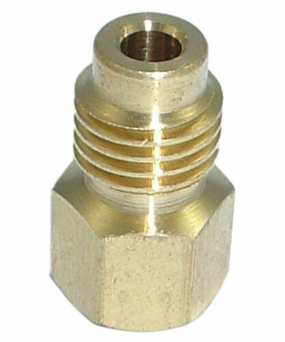 "Male To Female Vacuum Pump Adapter For 0.5/"" Acme R134A Hose  0.25/"" Service Port"